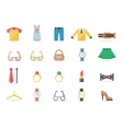Various Clothing and Accessory Themed Graphics vector image