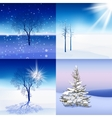 Winter Landscape set vector image