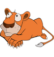 Young lion cartoon vector image