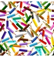 Background with colored pencils seamless pattern vector image vector image