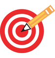 Pencil target vector image vector image