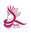 nails studio or manicure salon flat icon vector image vector image