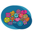 sewing buttons design set vector image