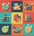 infographic elements and diagrams icons set vector image