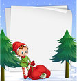 An empty template for christmas vector image vector image