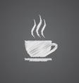 cap of tea sketch logo doodle icon vector image