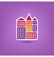 building icon logo city houses composition vector image
