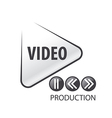 logo in the form of the play button vector image vector image