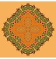 Green and Orange Oriental Mandala Abstract Retro vector image