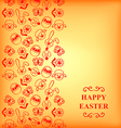 easter muzzle vertical orange vector image