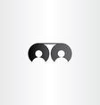movie reel cinema people icon logo vector image