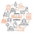 baggage luggage line icon vector image