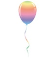 candy rainbow balloon ribbon fantasy isolated vector image