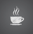 cap of tea sketch logo doodle icon vector image