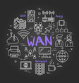 chalk board concept - wan vector image
