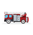 fire truck isolated on white vector image