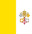 Flag of Vatican city vector image