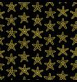 golden sea stars seamless pattern vector image