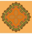 Green and Orange Oriental Mandala Abstract Retro vector image