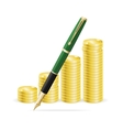 Money and Pen Business Concept vector image