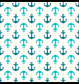 Retro seamless pattern with anchors vector image