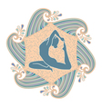 summer yoga vector image