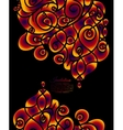 Colorful decorative invitation card with swirling vector image