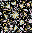 Gold flower seamless pattern in pastel colors vector image