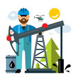 oil industry flat style colorful cartoon vector image