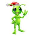 christmas alien vector image
