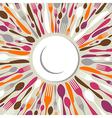 Cutlery restaurant background vector image vector image