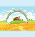 happy farm vector image vector image