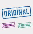 Original rubber stamp vector image vector image