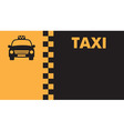 Business card for taxi drivers vector image vector image