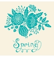 Vintage card with a blossoming branch vector image