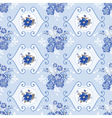 Vintage Floral Background - Blue Flowers vector image vector image