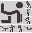 aerobics icons set vector image vector image