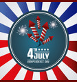 4th july independence day card greeting event vector image