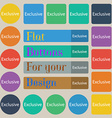 Exclusive sign icon Special offer symbol Set of vector image