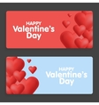 Valentines day Abstract cards with hearts vector image