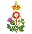 royal badge of uk of great britain vector image