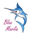 Atlantic blue marlin symbol for mascot design vector image