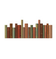 a row of old books vector image