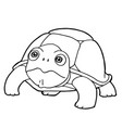 cartoon cute turtle coloring page vector image