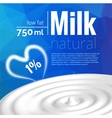 Milk design Milk wave blue triangle background vector image