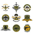 service insignia emblem collection vector image