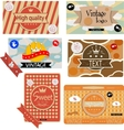 Vintage packages vector image