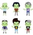 Male Zombie Avatar set vector image