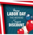 labor day sale big isolated icon vector image