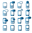 cell phones icons vector image
